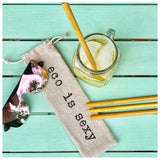 Straws Bamboo Straws with Cloth Carrying Bag