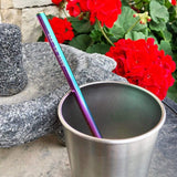 "Straws Stainless-Steel ""Mirage"" Straws with Cloth Carrying Bag"