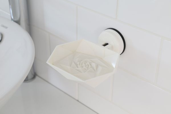 F3 FLORA ROSE SOAP HOLDER- WHITE