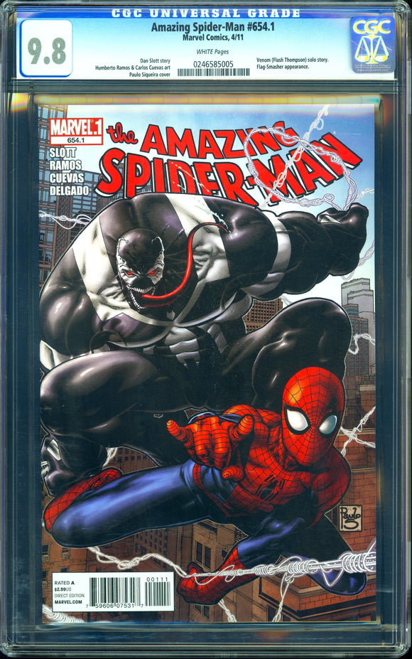 Amazing Spider-Man #654.1 - CGC 9.8