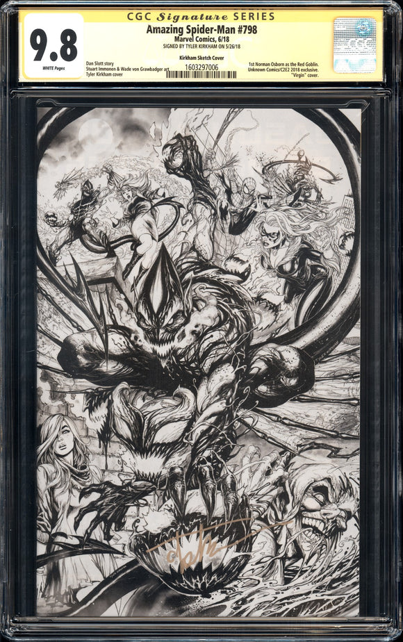 Amazing Spider-Man #798 - CGC SS 9.8 - Kirkham Sketch Cover - Signed