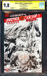 Justice League vs. Suicide Squad #1 - CGC SS 9.8 - Unknown Comics Sketch Edition