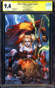 Justice League vs. Suicide Squad #1 - CGC SS 9.4 - Unknown Comics Virgin Edition