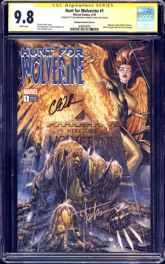 Hunt for Wolverine #1 - CGC SS 9.8 - Kirkham Cover A - 2x signed