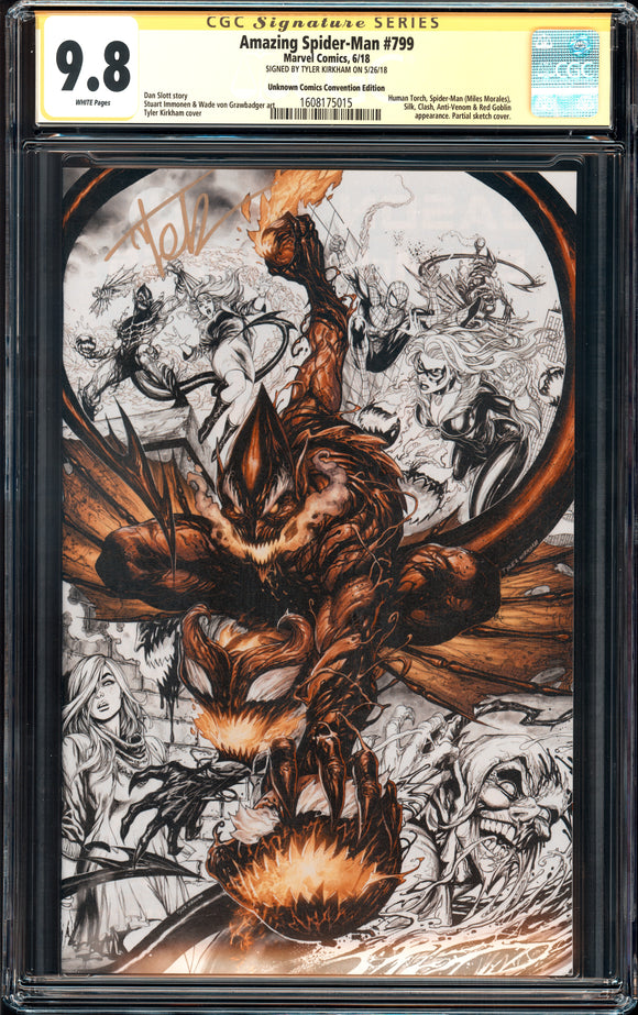 Amazing Spider-Man #798 - CGC SS 9.8 - Unknown Comics Convention Edition- Signed