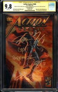 Action Comics #1000 - DC Boutique Edition - CGC SS 9.8 - 6 x Signed