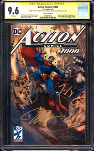 Action Comics #1000 - Jim Lee Tour Edition - CGC SS 9.6 - 3 x Signed