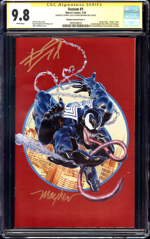 Venom #1 - Red Mayhew MegaCon Exclusive - CGC Signature Series 9.8 - 2x Sig