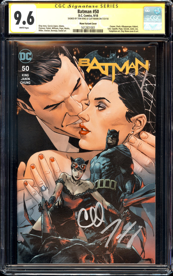 Batman #50 - Mann Variant Cover - CGC 9.6 - Signed Mann, King