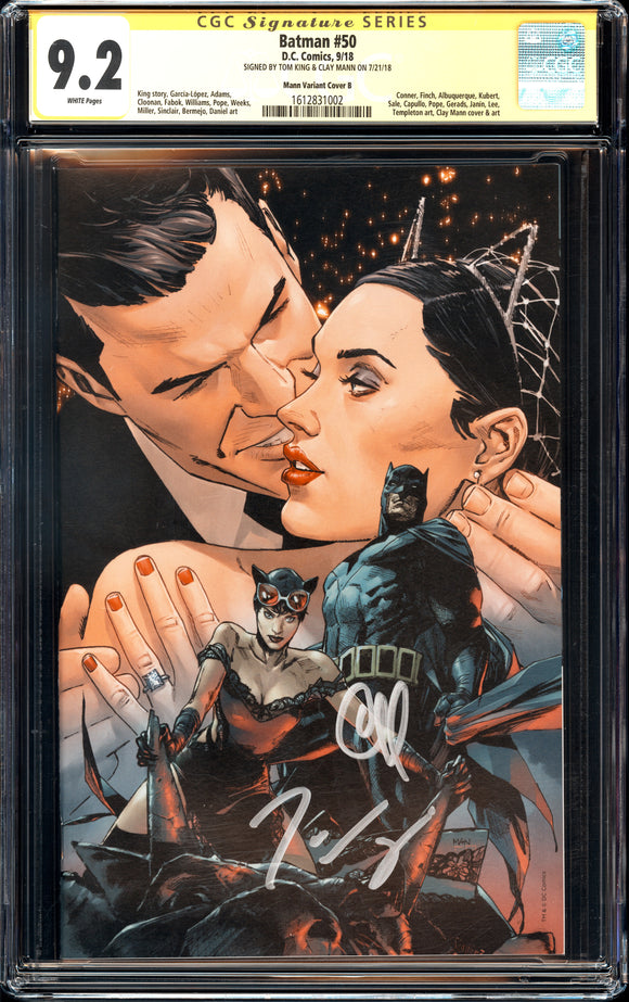 Batman #50 - Mann Variant Cover B - CGC 9.2 - Signed Mann, King