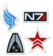 MASS EFFECT PARAGON EMBROIDERED PATCH