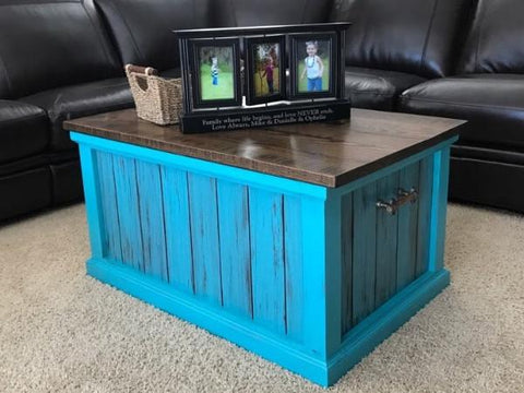 Shiplap Chest, storage chest, coffee table