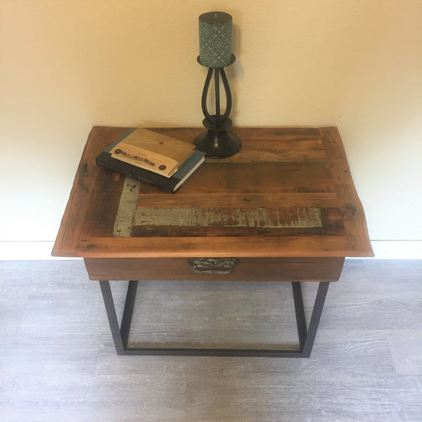 Rustic Patchwork End Table