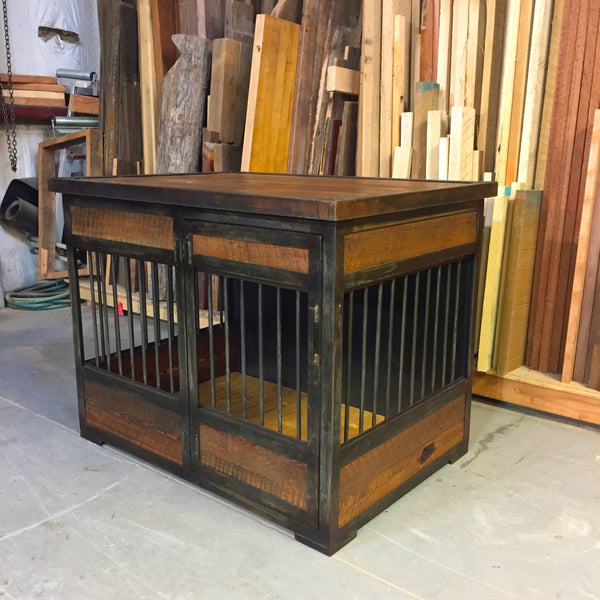 Industrial Rustic Single Dog Kennel