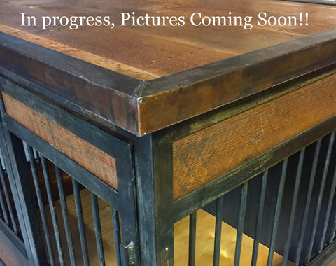 Industrial Rustic Double Dog Kennel