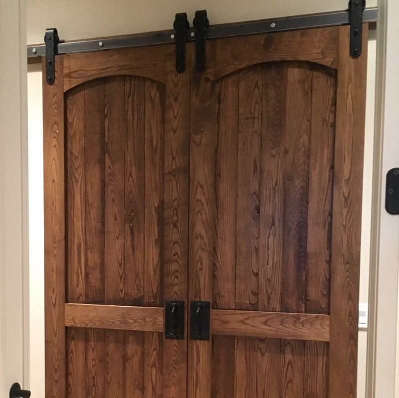Double arched barn doors.