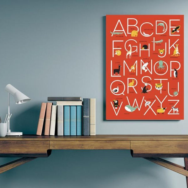 animal alphabet wall hang