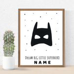 superhero wall art print