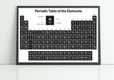 table of elements poster