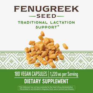 Nature's Way Fenugreek Lactation Support 1220mg  180 Caps