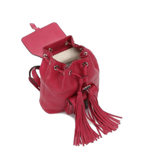 d3742119934e ... Backpack Sac; Pink Backpack by Gucci - Women's Pink Bamboo Toggle  Leather Tassel Backpack ...