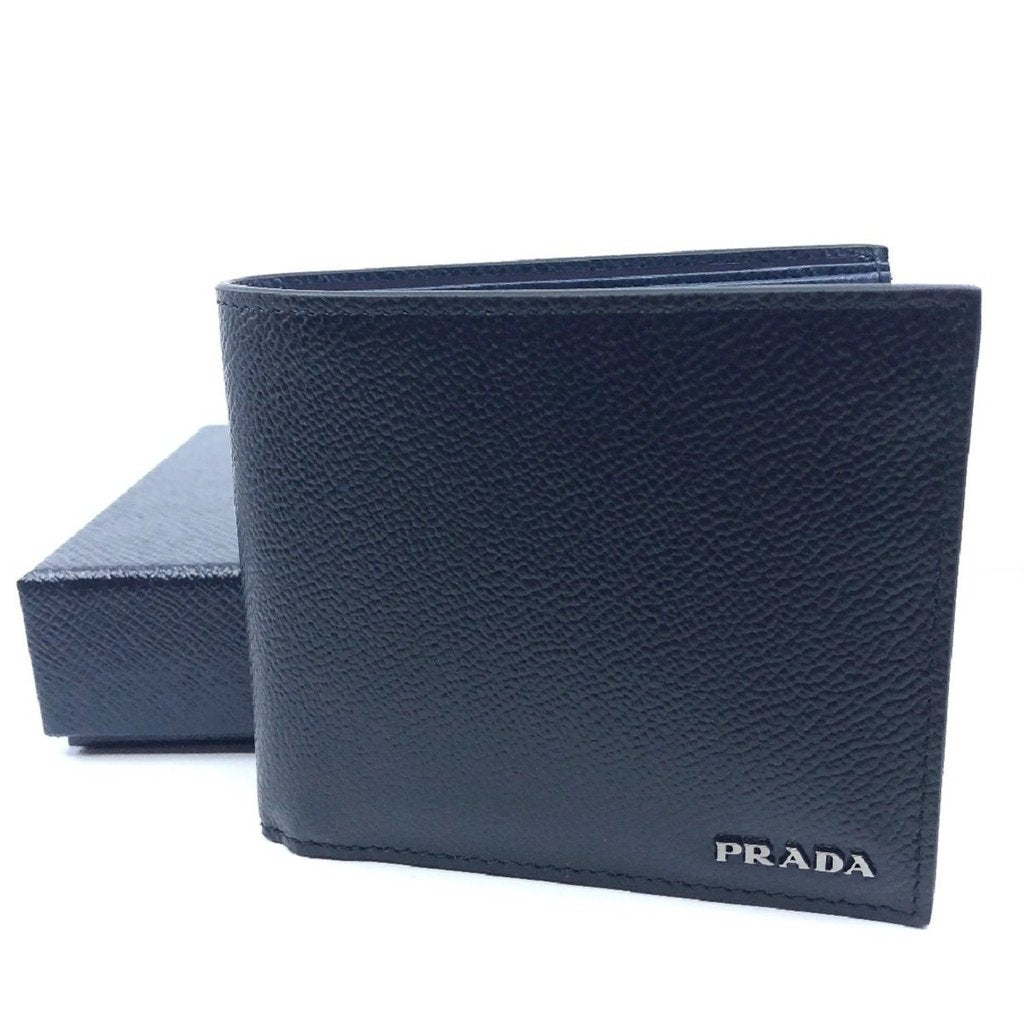 9b285d18d3 Men's Wallet by Prada - Baltico Blue Vitello Micro Grain Leather