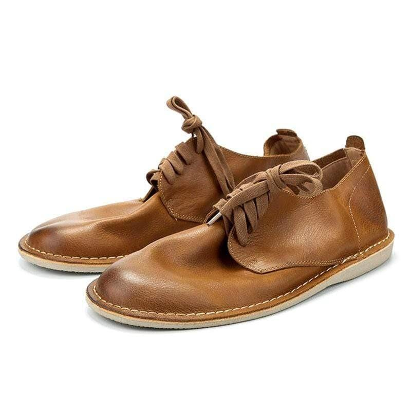 Men Vintage British Style Low Cut Desert Shoes