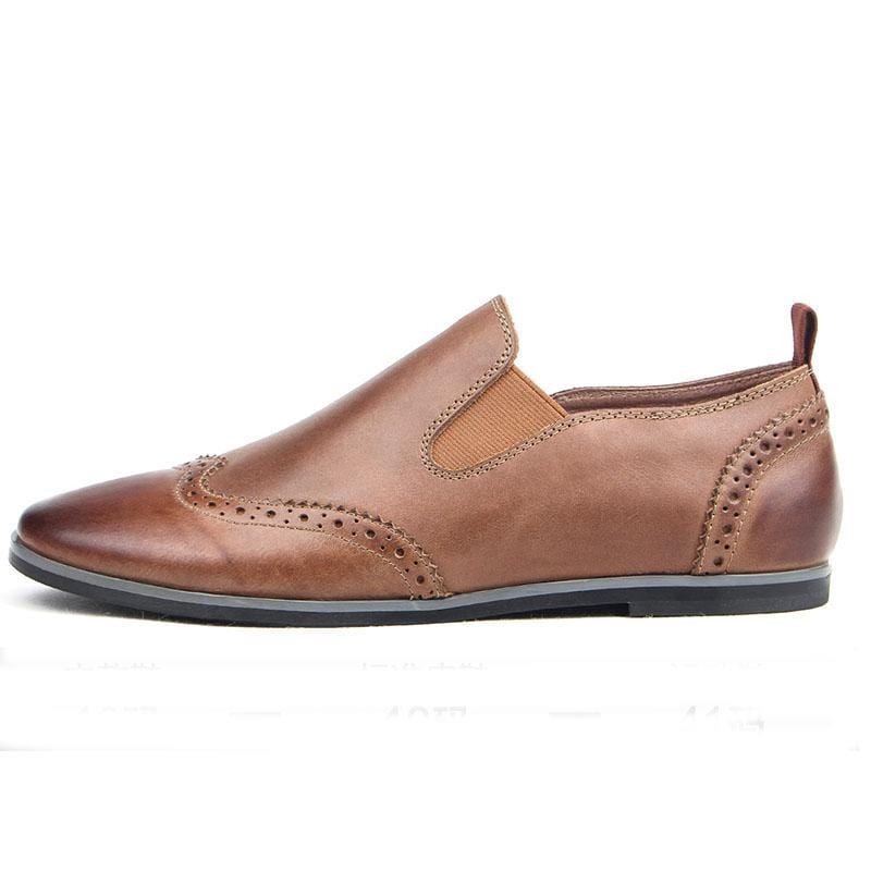 Men British Style Leather Brogue Loafers