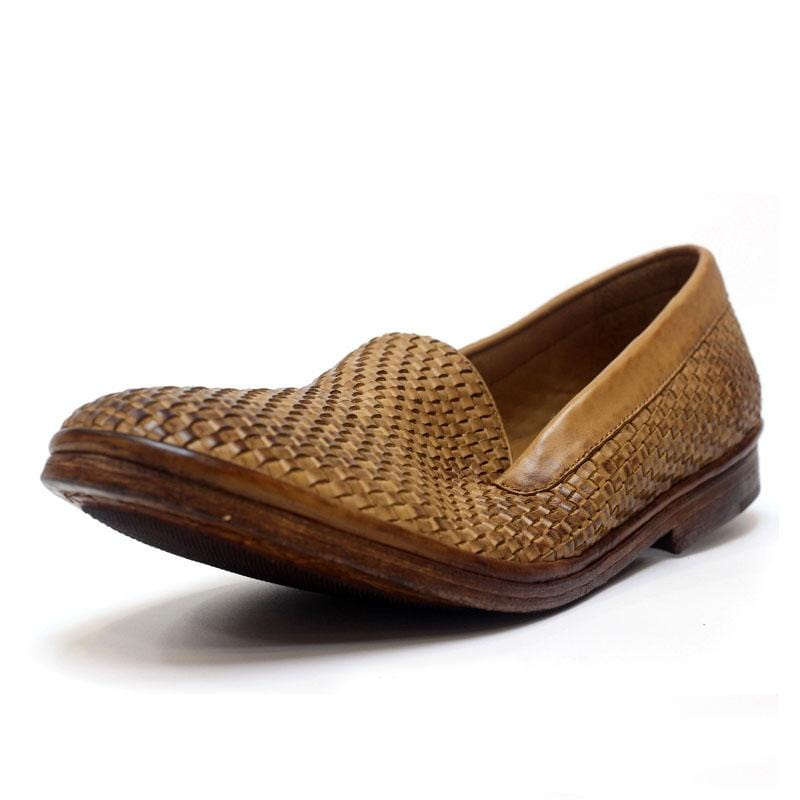 Men Handwoven Vintage Leather Slip-On Shoes