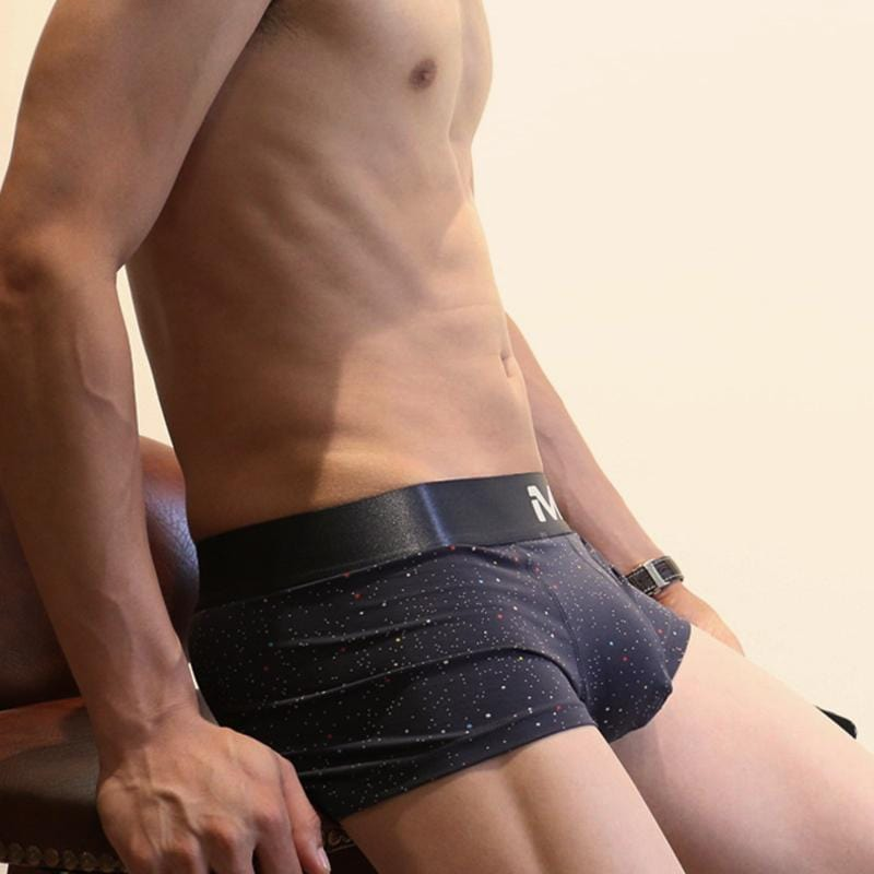 Men's Low Waist Cotton Boxer