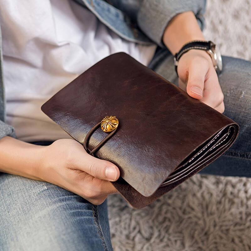 Men Vintage Clutch bag Travel Wallet