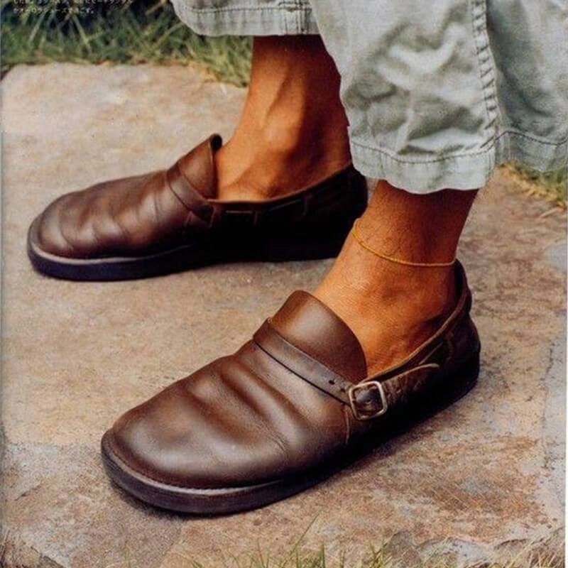 Men Casual Soft Toe Leather Shoes