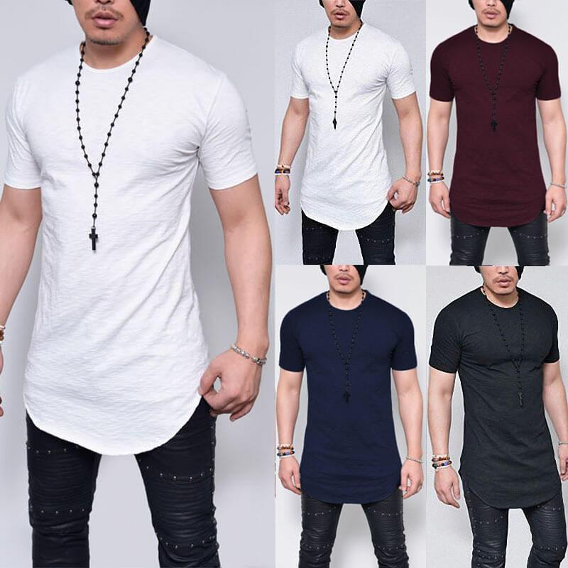 Men Slub Print T-shirt