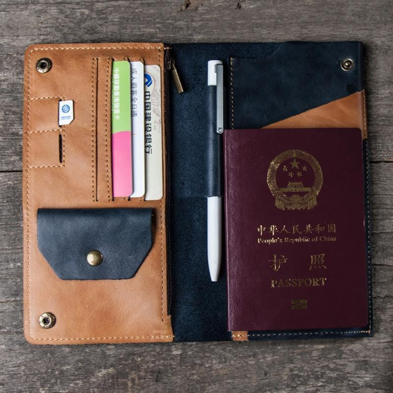 Leather Retro Travel Wallet - mwsshoe