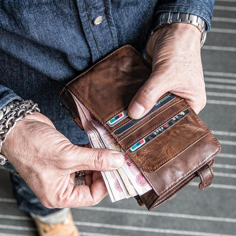 Full-grain Leather Card Wallet - mwsshoe