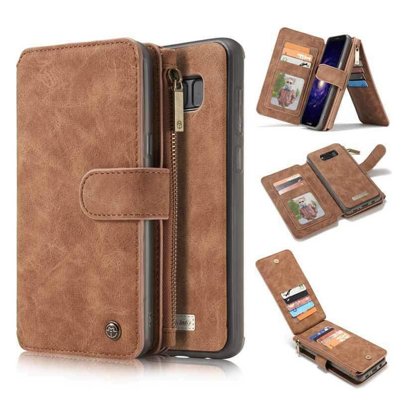 Leather Multifunctional Zipper Wallet with Phone Cover - mwsshoe