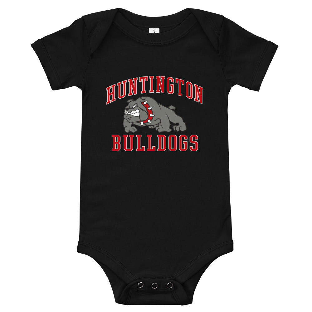 Huntington Bulldogs Baby Jersey Short Sleeve One Piece
