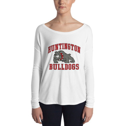 Huntington Bulldogs Women's Flowy Long Sleeve Tee