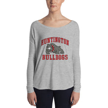 Load image into Gallery viewer, Huntington Bulldogs Women's Flowy Long Sleeve Tee