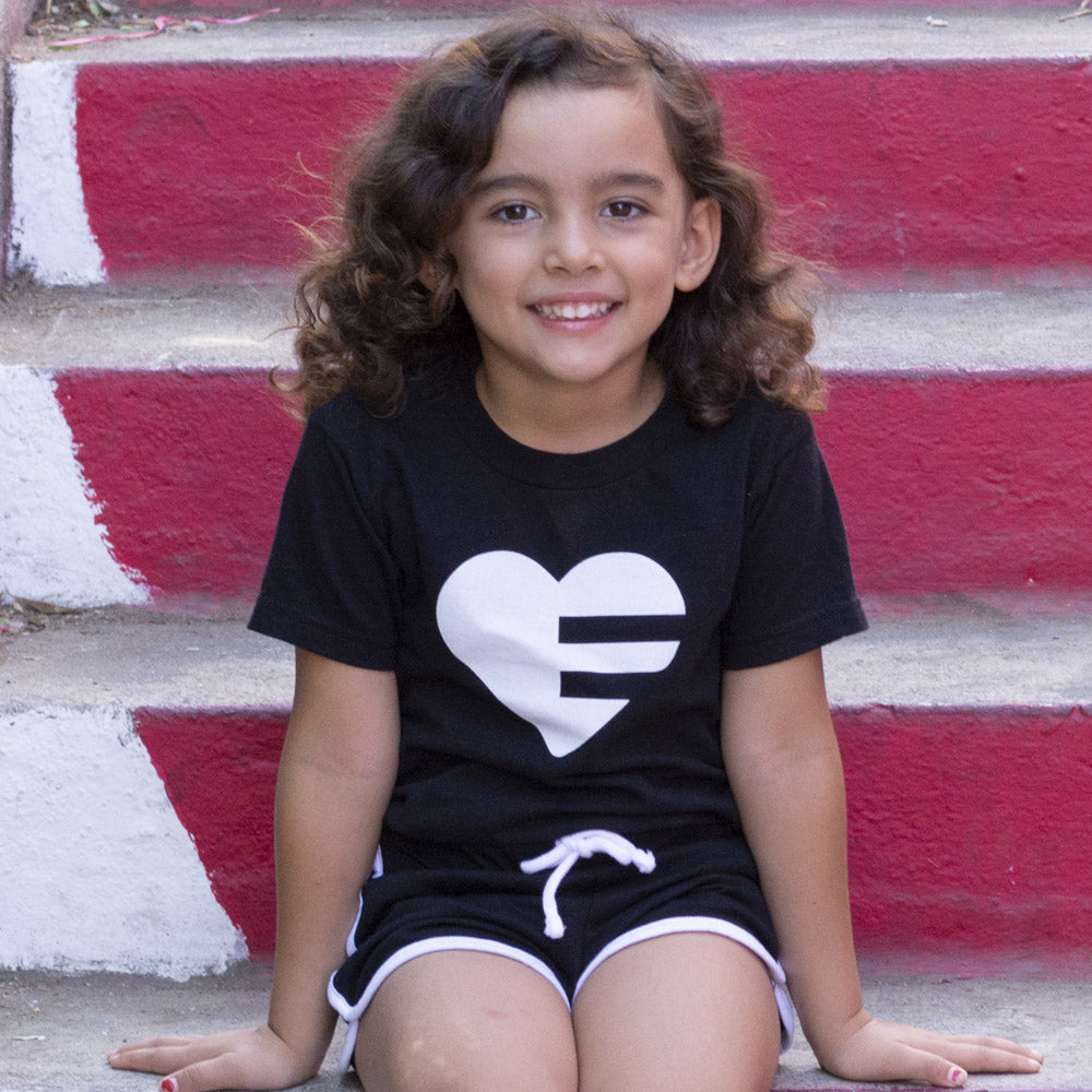 Black Solo Heart Kids Tee