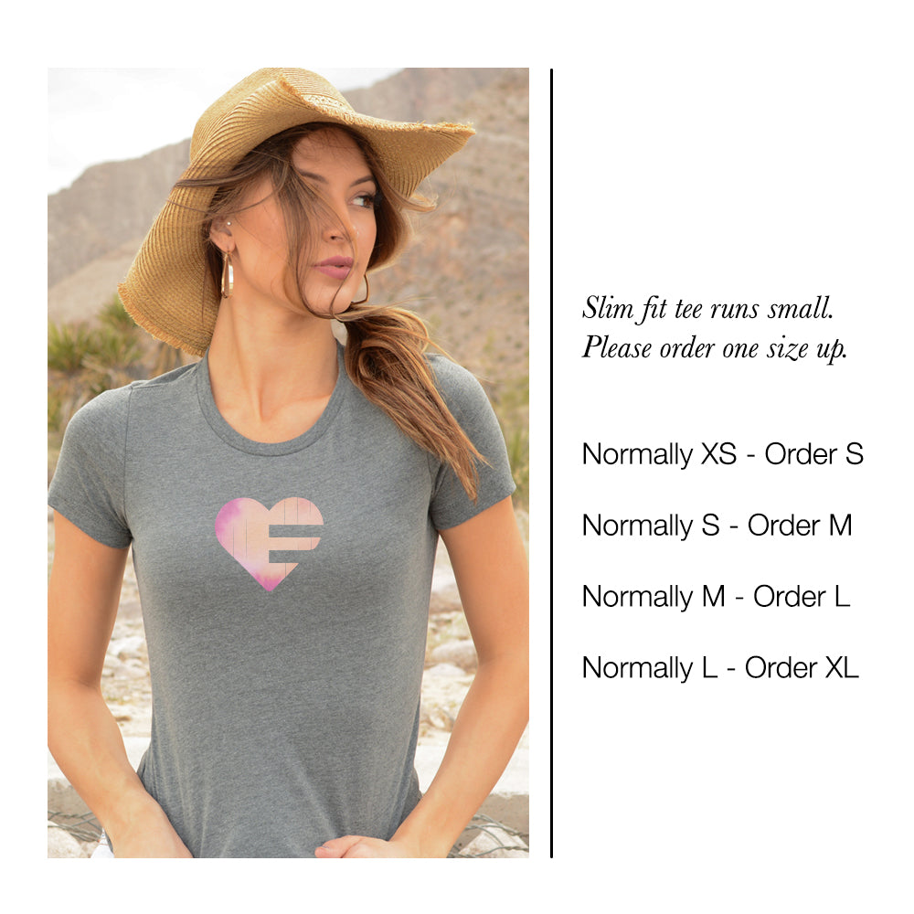 Grey LOV=Yoga Ultra Slim Fit Triblend Tee