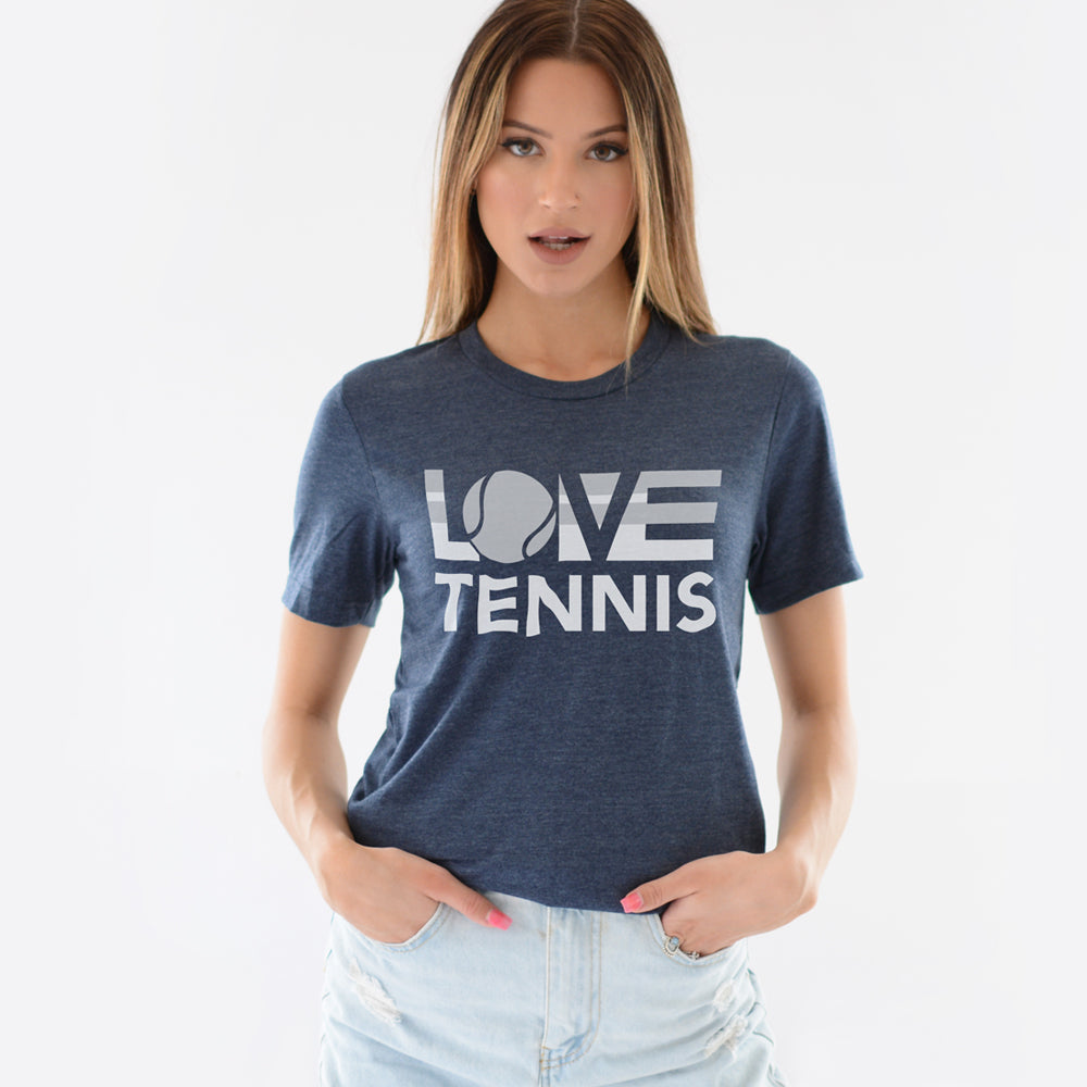 Midnight navy LOV=Tennis Unisex Tee