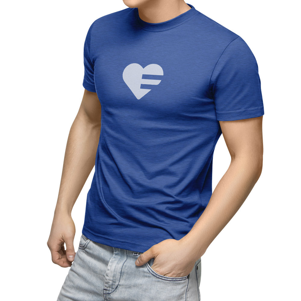 Heather true royal Solo Heart Unisex Tee