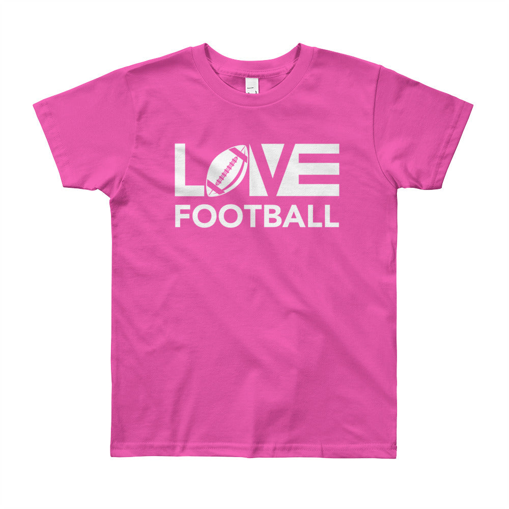 Fuchsia LOV=Football Youth Tee