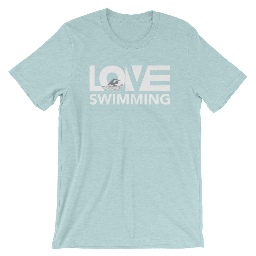 Ice blue LOV=Swimming Unisex Tee