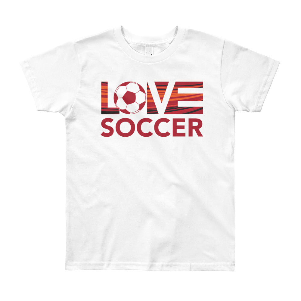 White LOV=Soccer Youth Tee