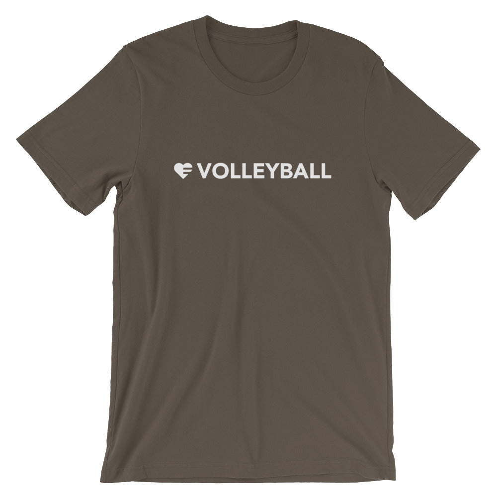 Army Heart=Volleyball Unisex Tee