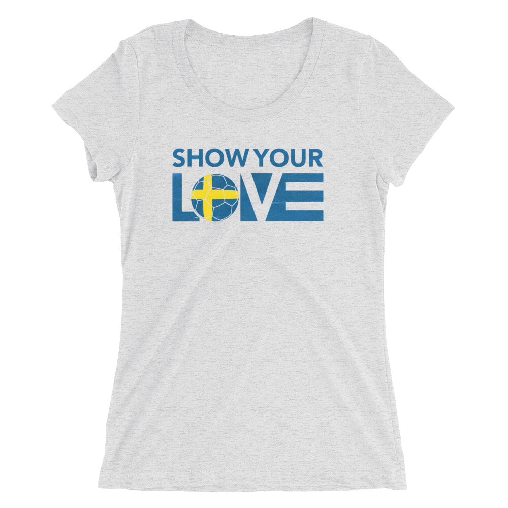 White Fleck Triblend Show Your Love Slim Fit Tee