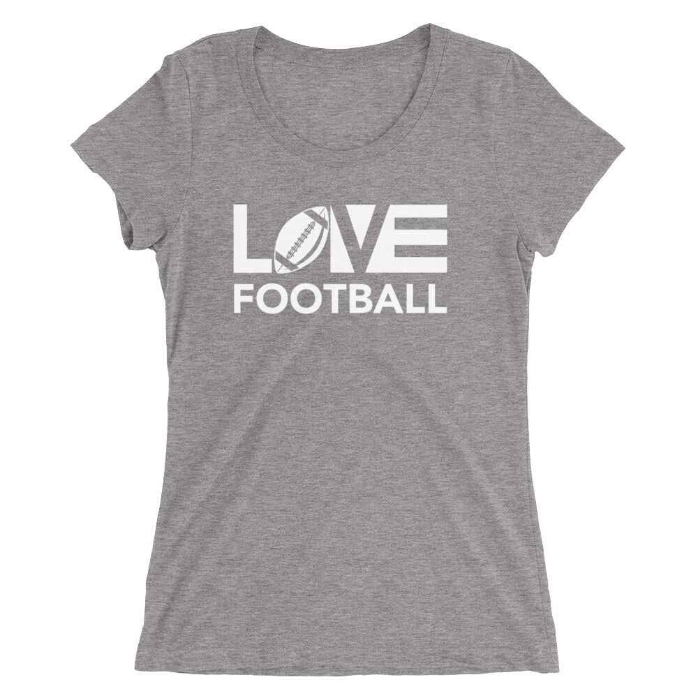 Grey LOV=Football Ultra Slim Fit Triblend Tee