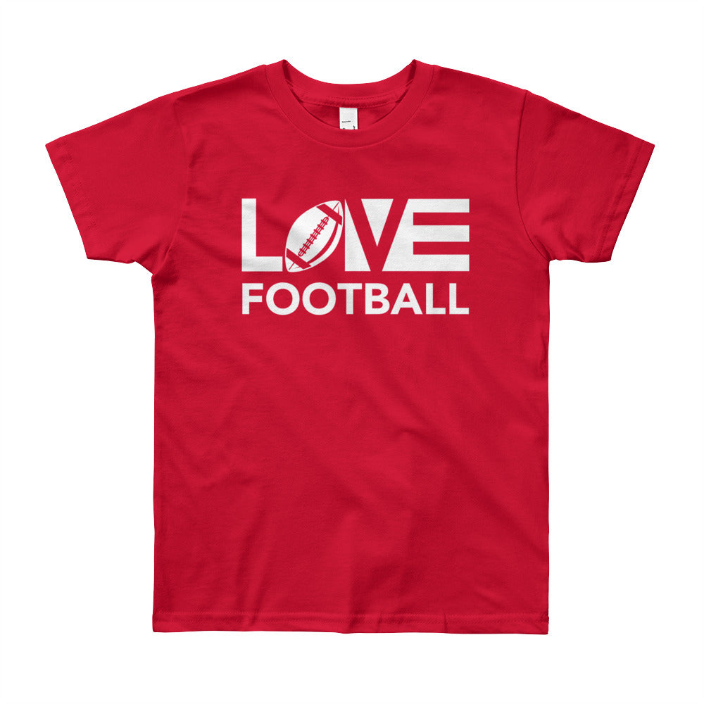 Red LOV=Football Youth Tee